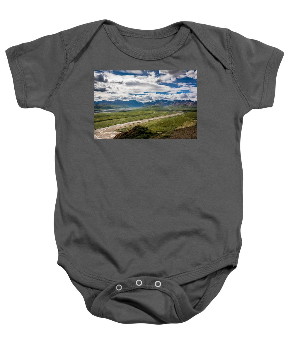 National Park Baby Onesie featuring the photograph Mountain Landscape by Andrew Matwijec