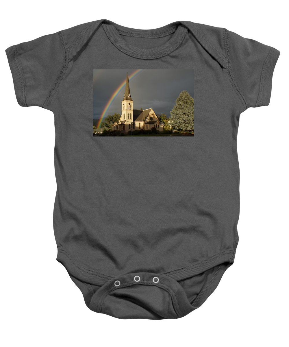 Newman United Methodist Church Baby Onesie featuring the photograph Newman United Methodist Church by Mick Anderson
