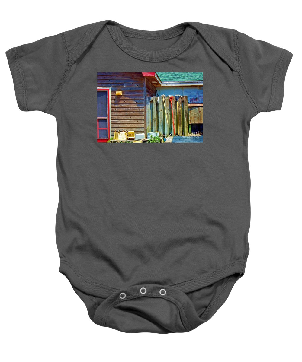 Building Baby Onesie featuring the photograph Out To Dry by Debbi Granruth