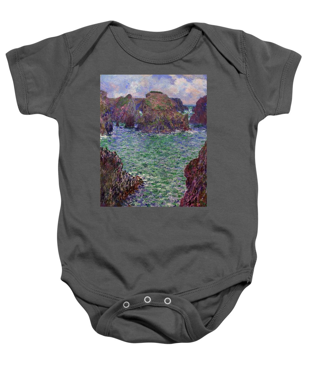 Painting Baby Onesie featuring the painting Port-goulphar by Mountain Dreams