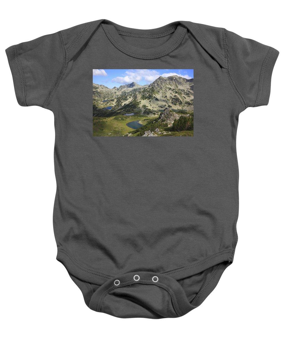 Balkan Peninsula Baby Onesie featuring the photograph Prevalski And Valyavishki Lakes Pirin National Park Bulgaria by Ivan Pendjakov