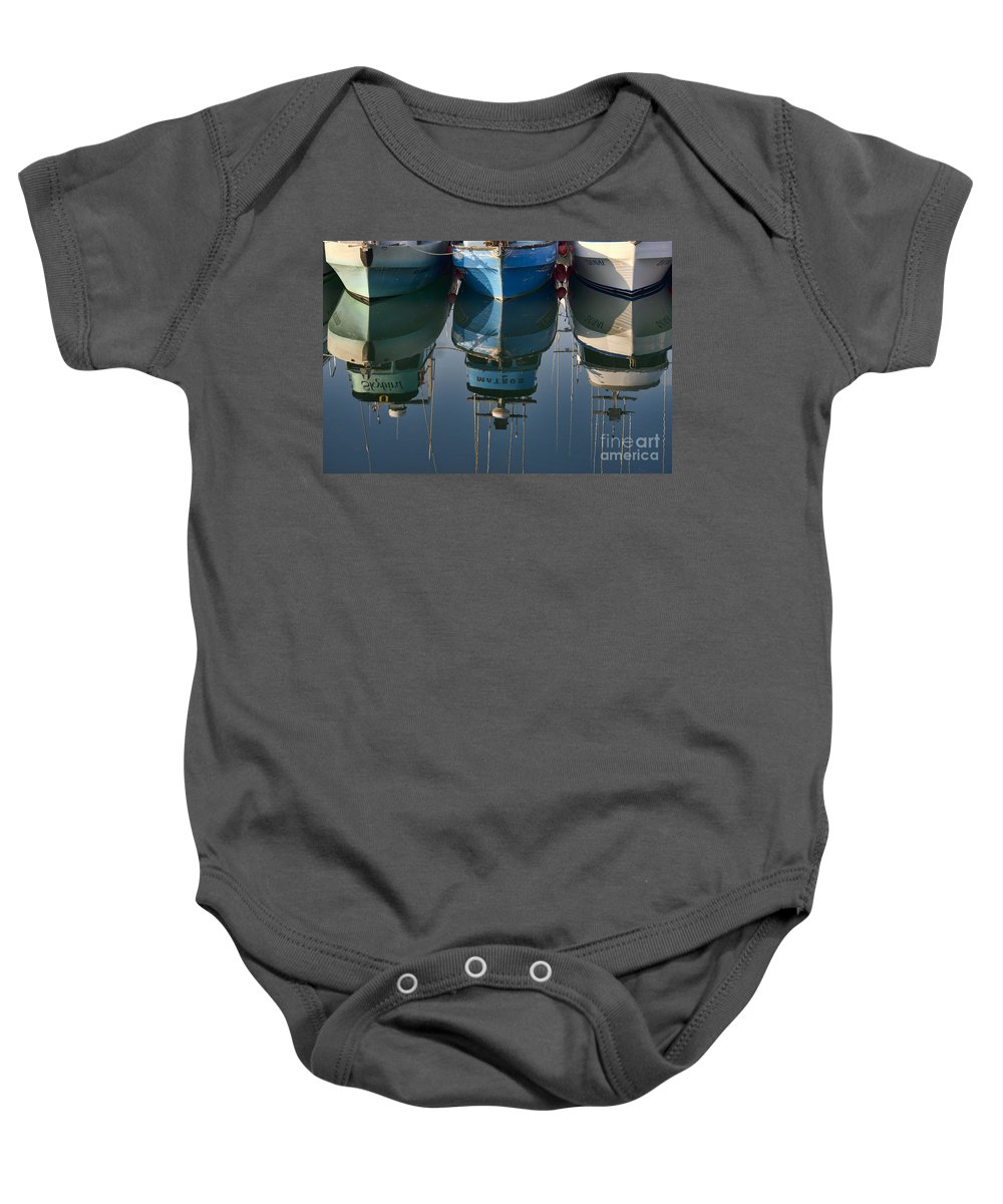 Boats Baby Onesie featuring the photograph Reflection by David Arment