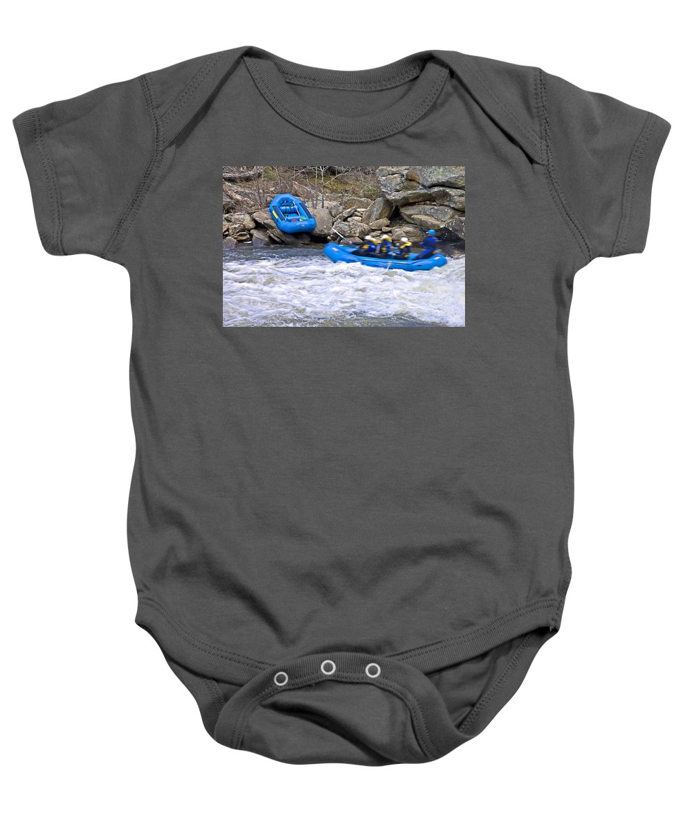 Sport Baby Onesie featuring the photograph River Rafting by Susan Leggett