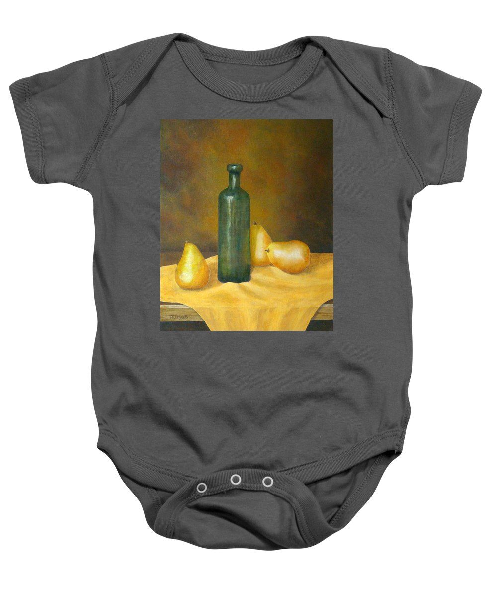 Allegretto Art Baby Onesie featuring the painting Roman Table by Pamela Allegretto