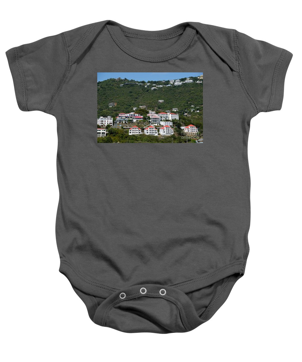 Caribbean Baby Onesie featuring the photograph St Thomas Usvi by Amy Cicconi