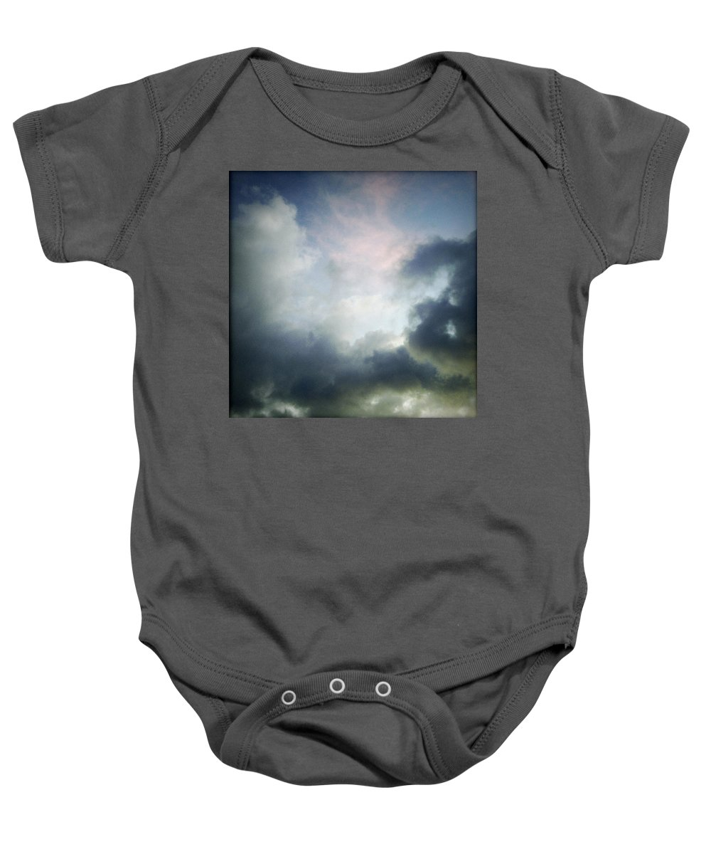 Clouds Baby Onesie featuring the photograph Storm Clouds by Les Cunliffe