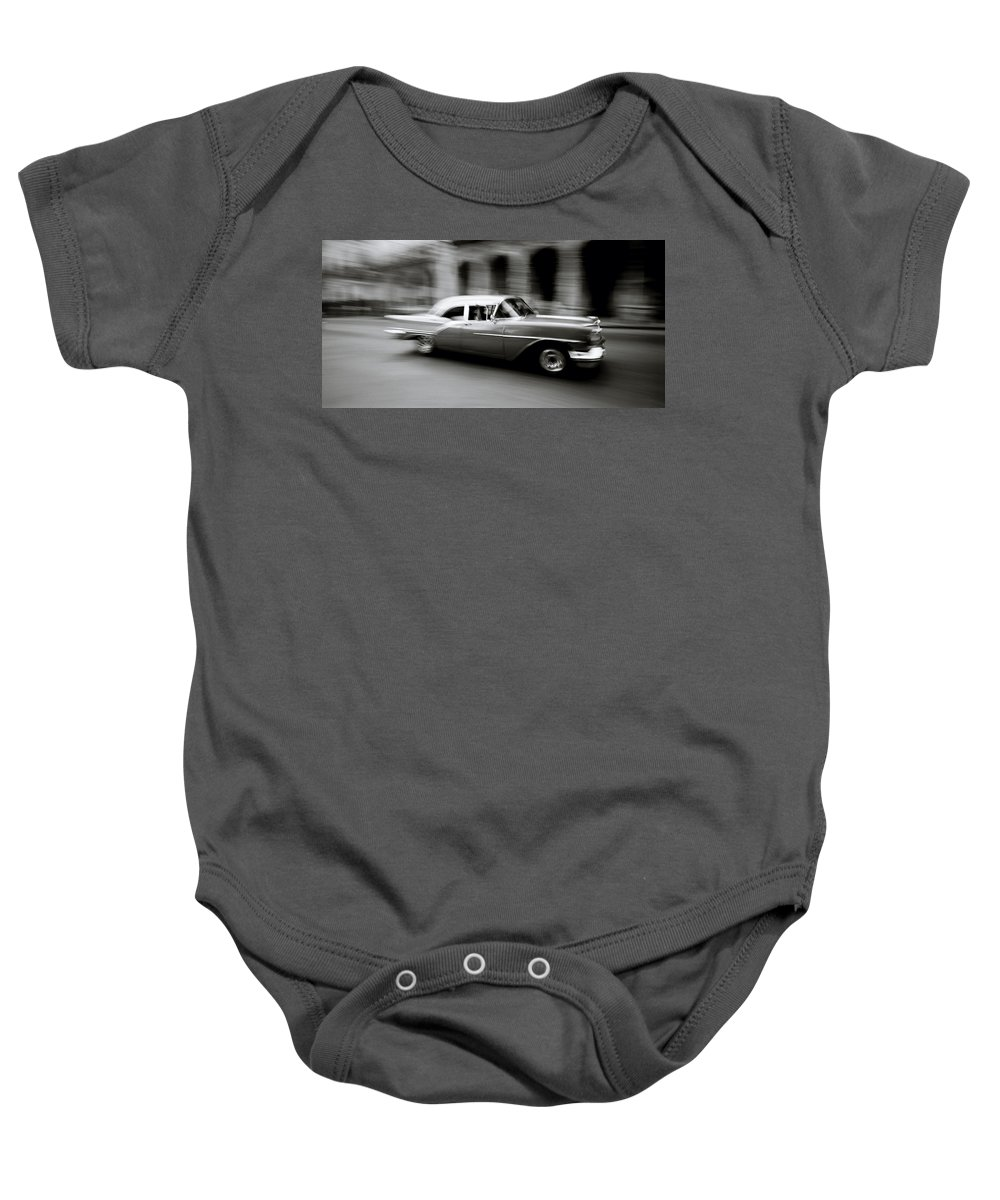 American Car Baby Onesie featuring the photograph The Zen Of Havana by Shaun Higson