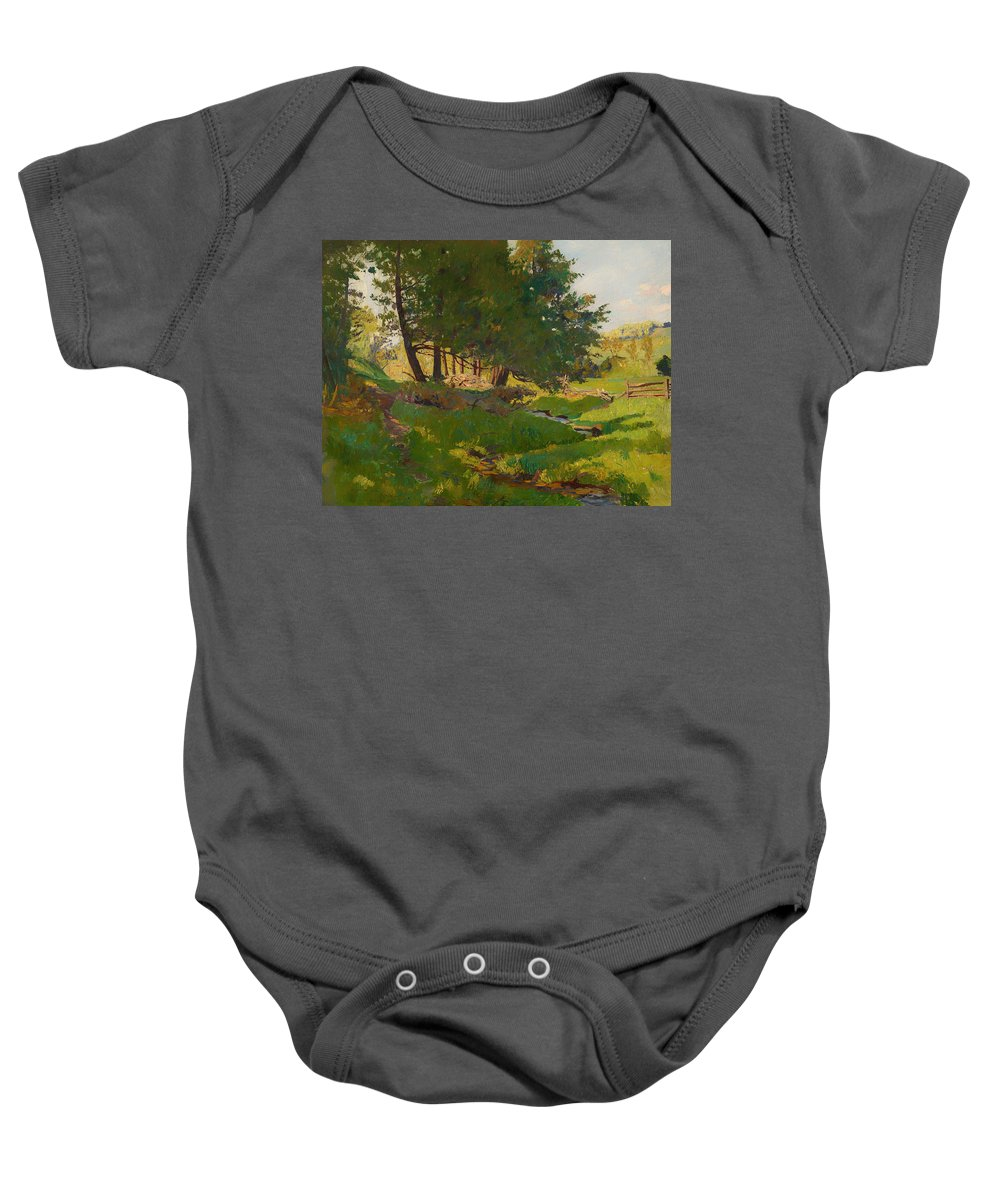 Painting Baby Onesie featuring the painting Summer Near Beaupre by Mountain Dreams