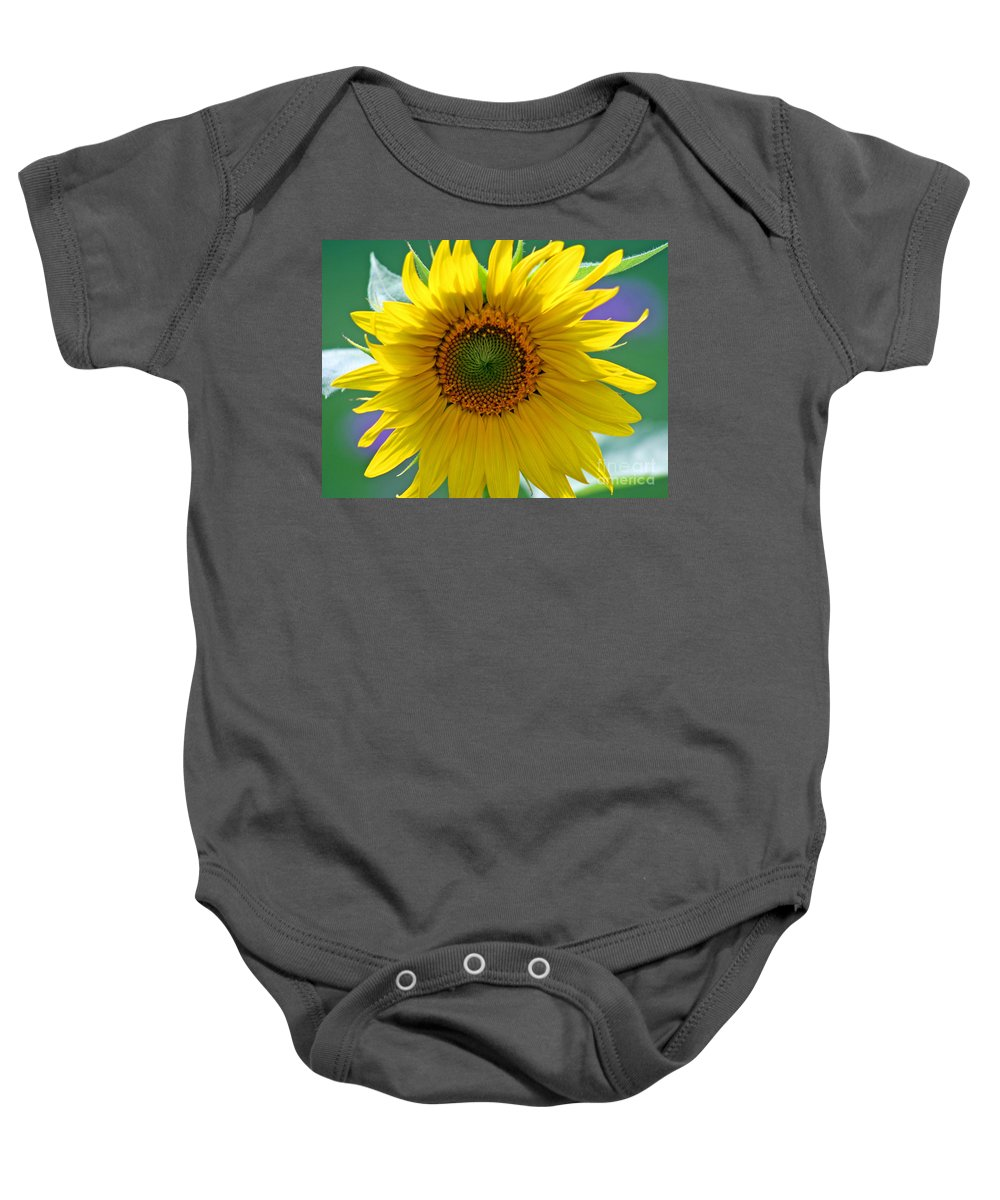 Sunflower Baby Onesie featuring the photograph Sunflower by Karen Adams