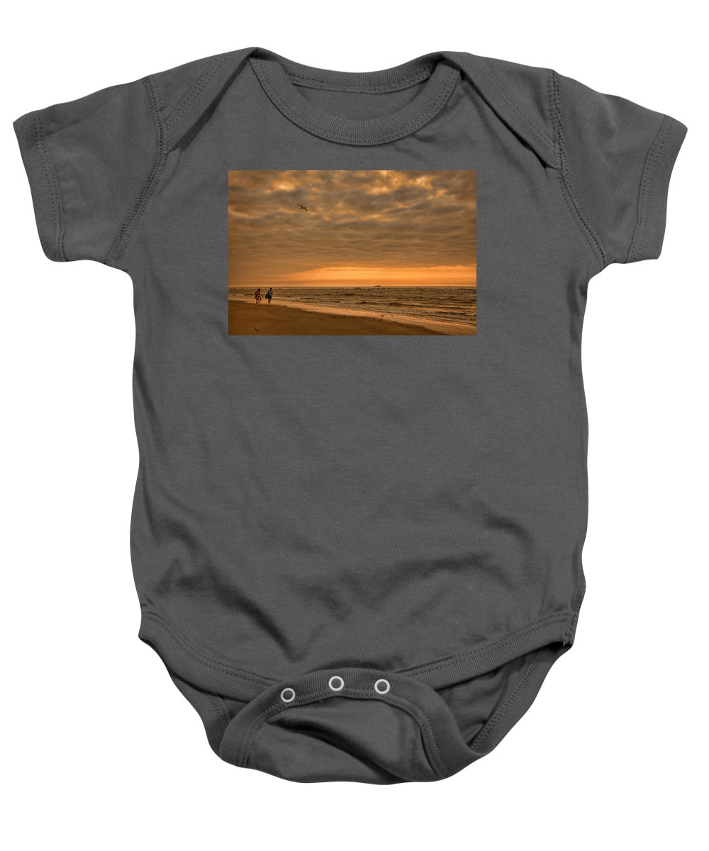 Tybee Island Baby Onesie featuring the photograph Sunrise by Diana Powell