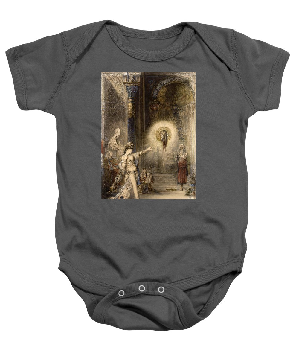 Gustave Moreau Baby Onesie featuring the painting The Apparition by Gustave Moreau