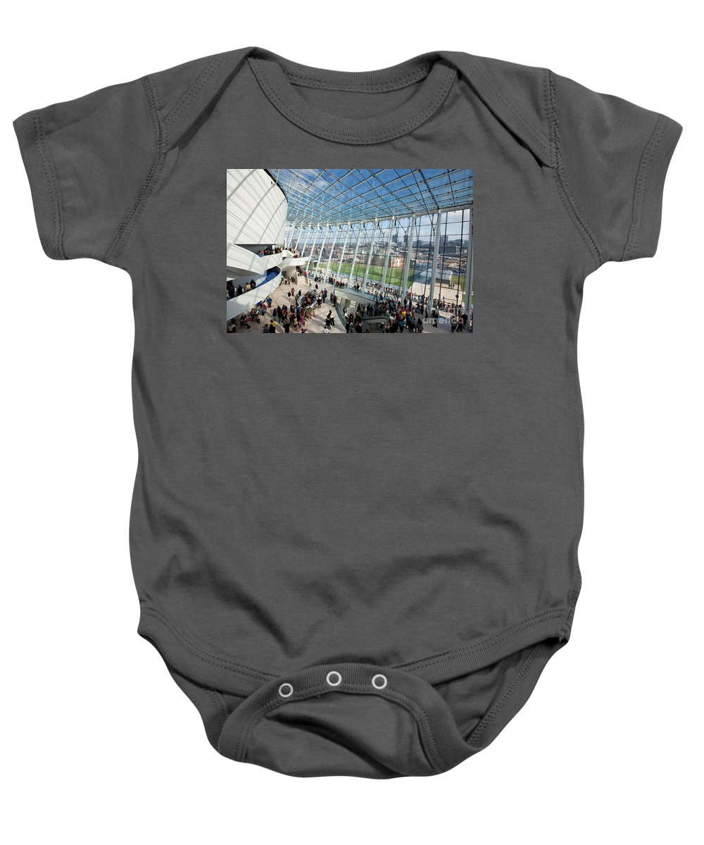 Brandmeyer Baby Onesie featuring the photograph The Kauffman Center For Performing Arts by Bill Cobb