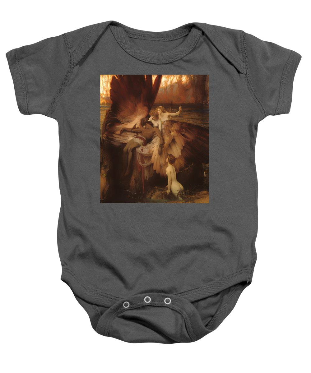 Painting Baby Onesie featuring the painting The Lament For Icarus by Mountain Dreams