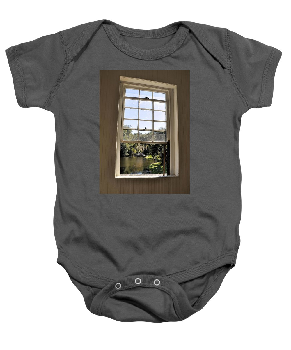 Middleton Place Baby Onesie featuring the photograph Through The Window by Rich Bodane