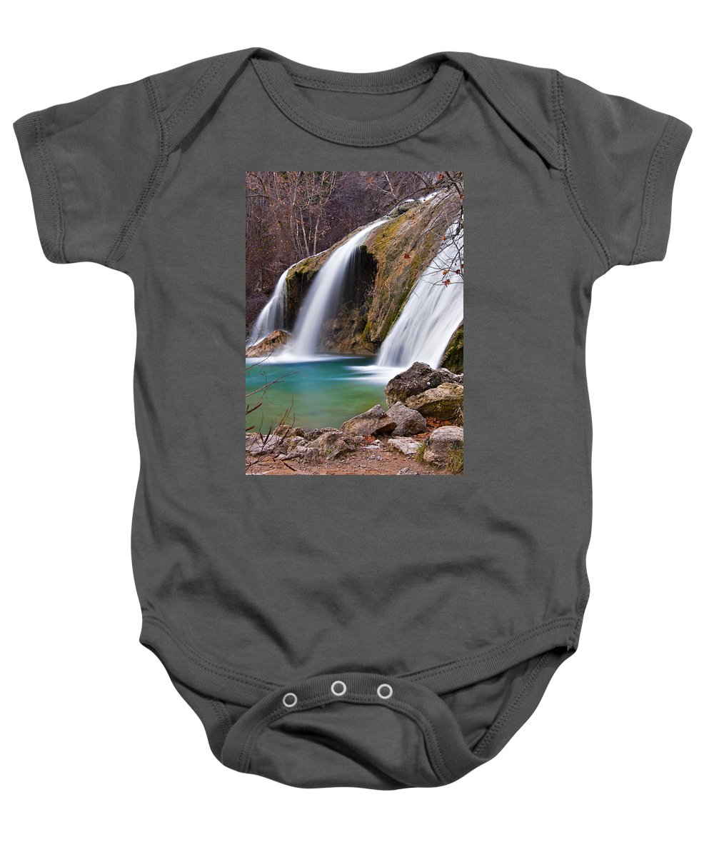 Nature Baby Onesie featuring the photograph Turner Falls by Ricky Barnard