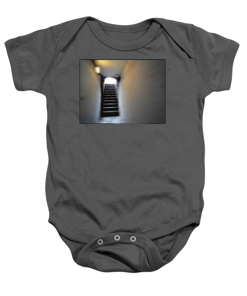 Up Baby Onesie featuring the painting Up by Charles Stuart