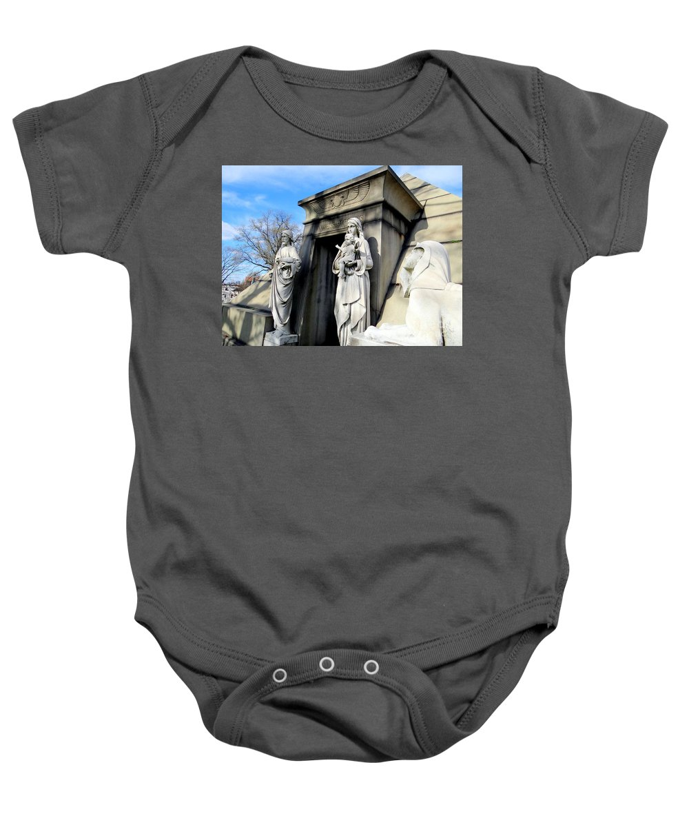 Mausoleum Baby Onesie featuring the photograph Welcome by Ed Weidman