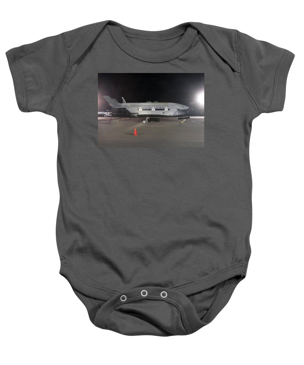 Astronomy Baby Onesie featuring the photograph X-37b Orbital Test Vehicle, Post-landing by Science Source