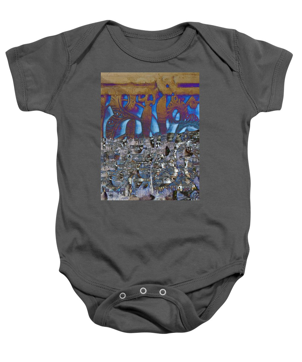 Geometric Baby Onesie featuring the photograph 1001 Nights Over Granada by Candee Lucas
