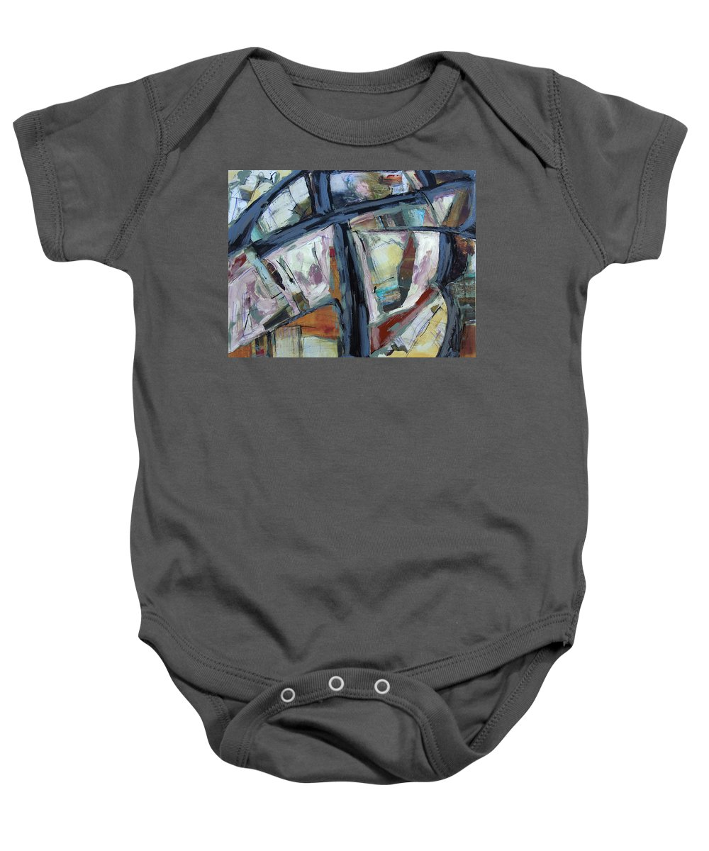 101 Baby Onesie featuring the painting 101 To Hollywood by Dominic Piperata