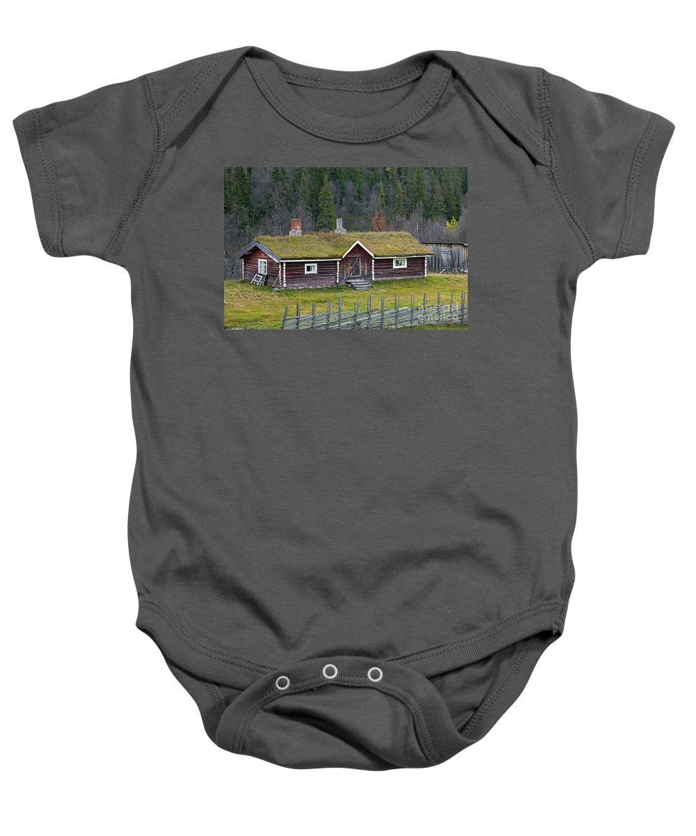 Jamtland;j�mtland Baby Onesie featuring the photograph 121213p067 by Arterra Picture Library