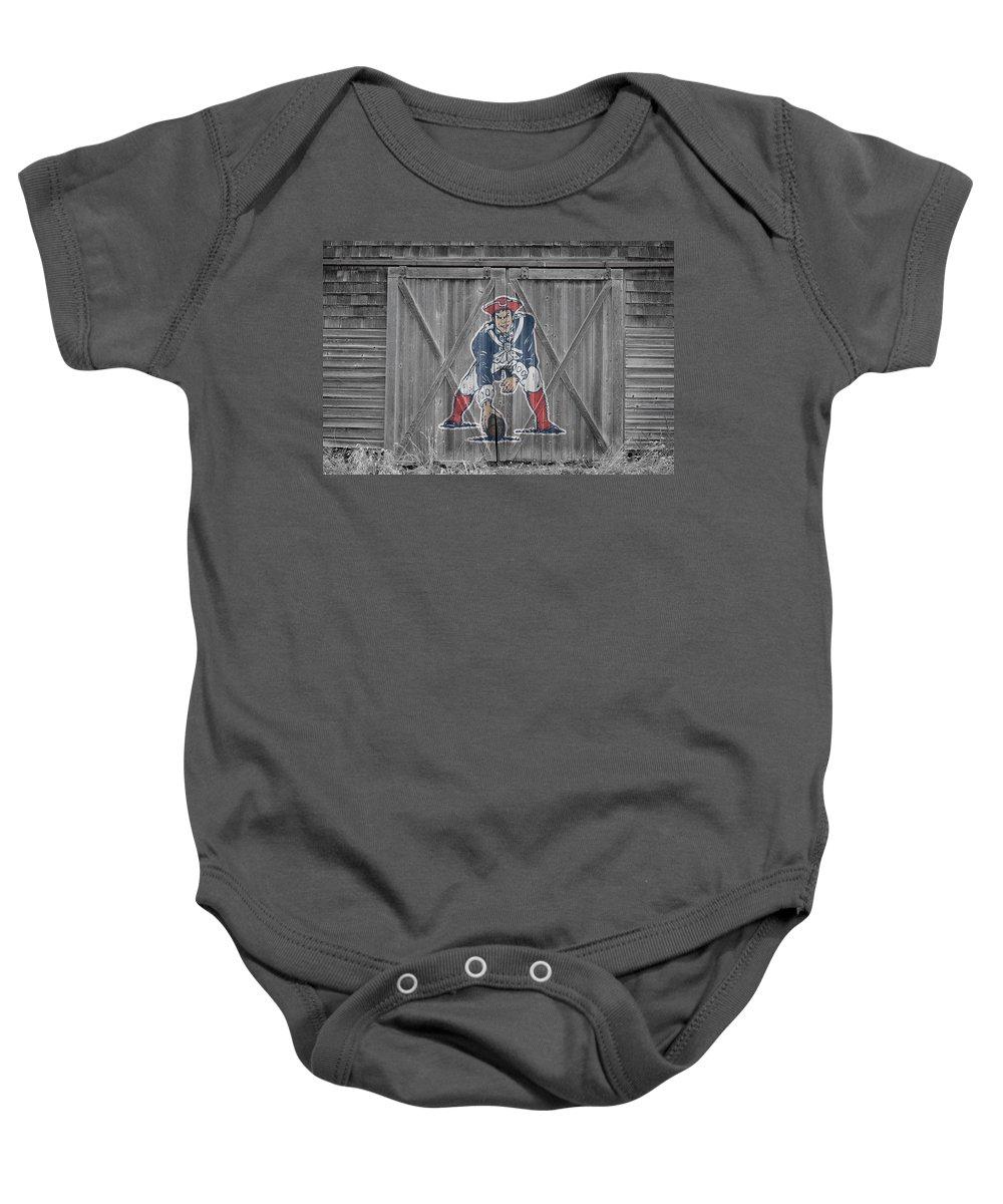 Patriots Baby Onesie featuring the photograph New England Patriots by Joe Hamilton