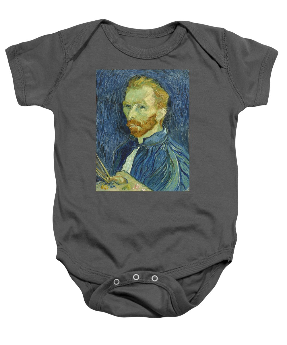 Art Baby Onesie featuring the painting Self Portrait by Mountain Dreams