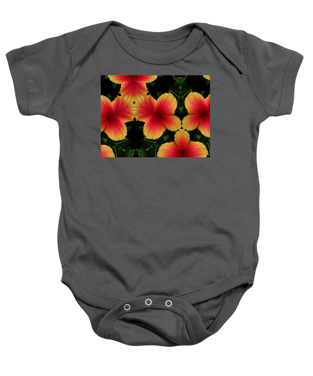 Flower Baby Onesie featuring the photograph 1748 by John Holfinger