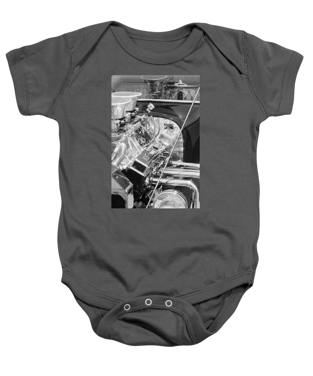 1923 Ford T-bucket Engine Baby Onesie featuring the photograph 1923 Ford T-bucket Engine 2 by Jill Reger