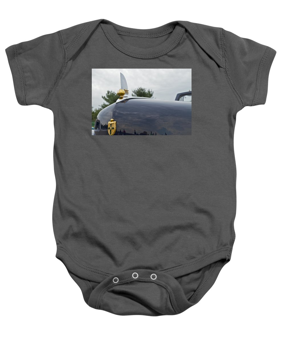 Glenmoor Baby Onesie featuring the photograph 1942 Lincoln by Jack R Perry