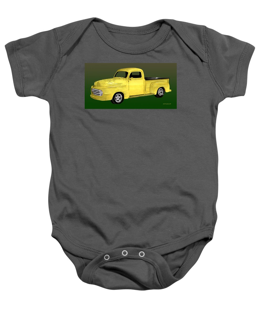 1948 Ford Pick Up Truck Baby Onesie featuring the painting 1948 Custom Ford Pick Up by Jack Pumphrey