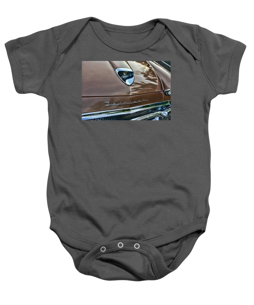 Paul Ward Baby Onesie featuring the photograph 1958 Ford Fairlane 500 Skyliner by Paul Ward