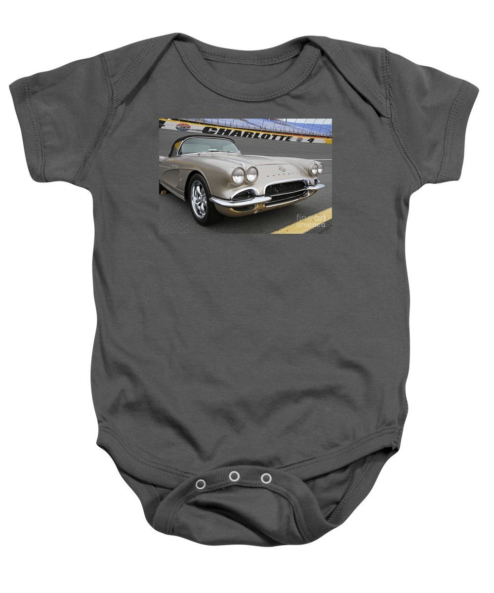 American Baby Onesie featuring the photograph 1962 Chevy Corvette by Kevin McCarthy