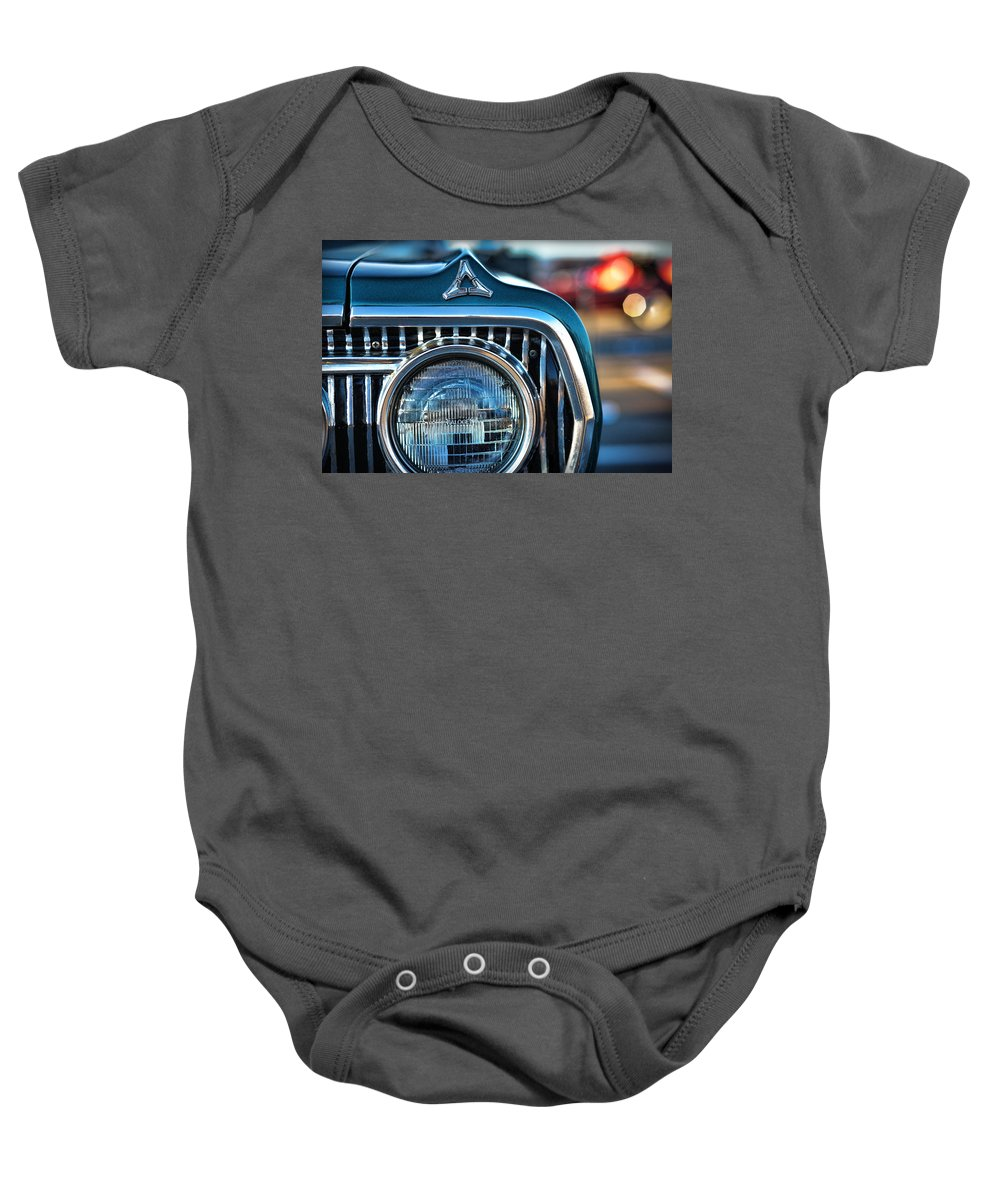 1966 Baby Onesie featuring the photograph 1965 Dodge Coronet by Gordon Dean II