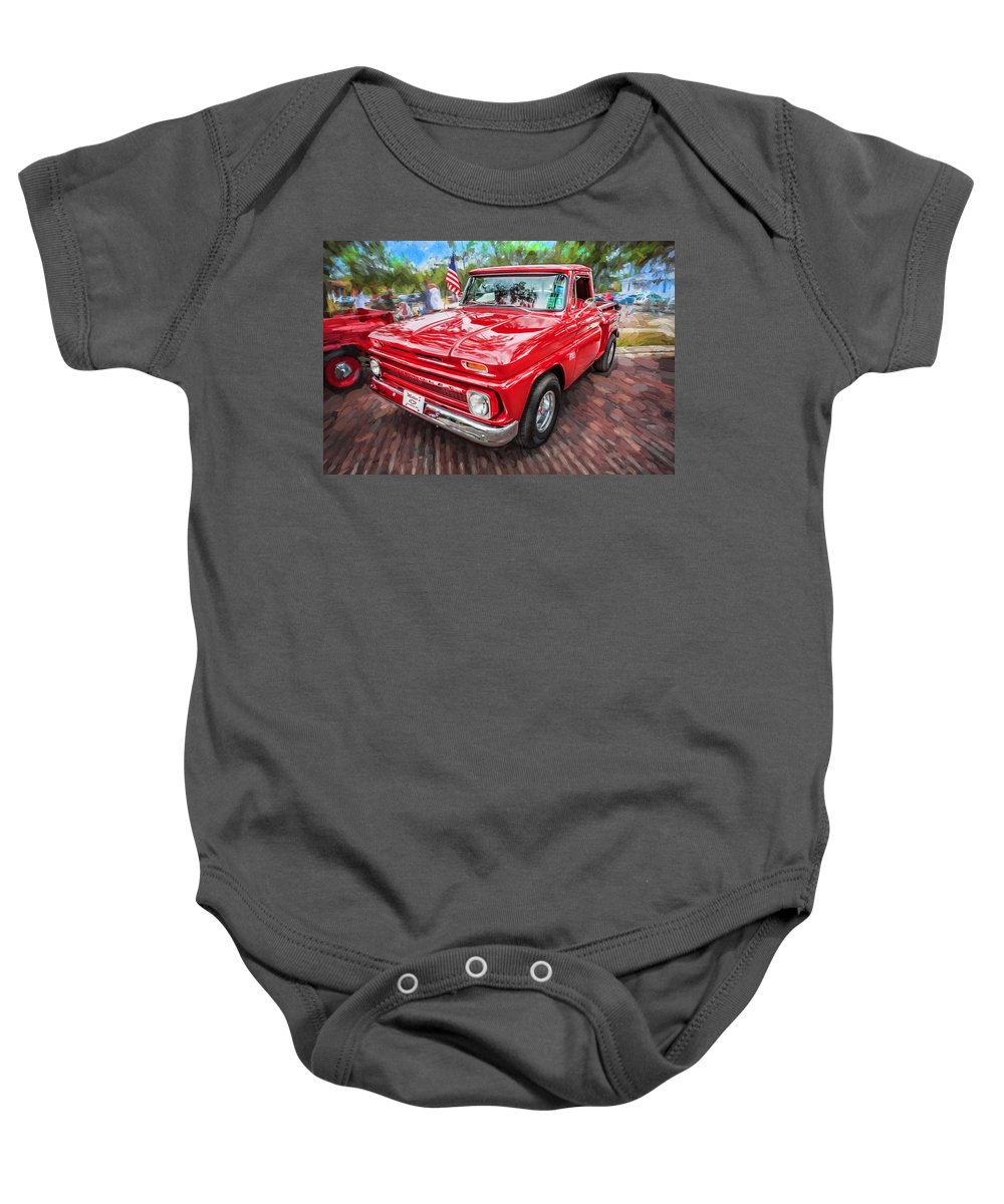 1966 Chevy C10 Pick Up Truck Painted Onesie For Sale By Rich Franco Trucks Baby Featuring The Photograph