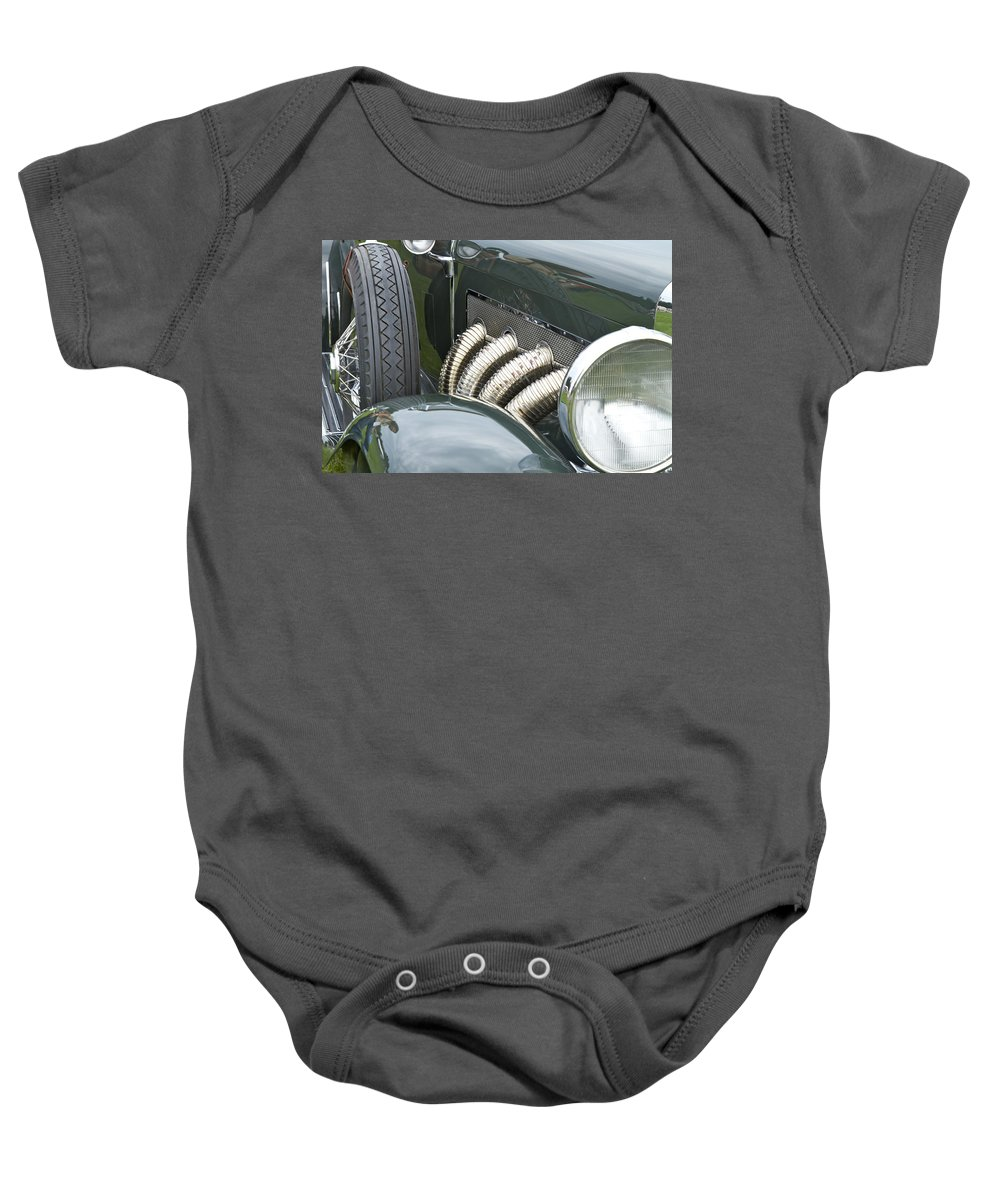 Antique Baby Onesie featuring the photograph 1932 Duesenburg by Jack R Perry