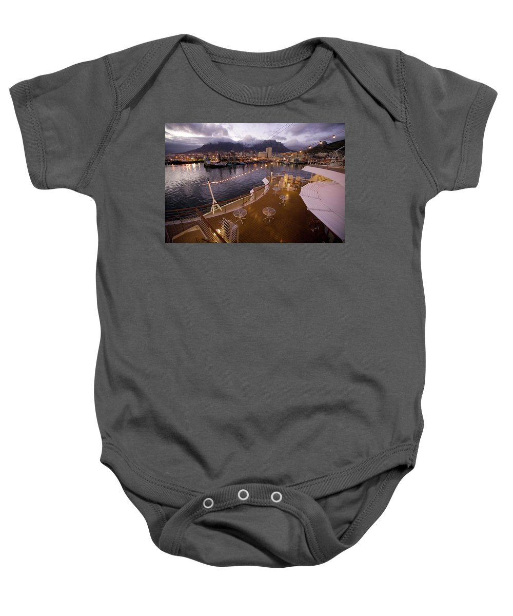 African Baby Onesie featuring the photograph A Night View Of The Victoria And Alfred by Jonathan Kingston