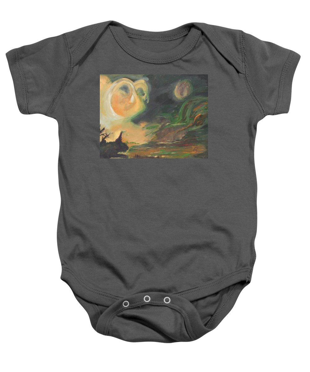 Aires Rising Baby Onesie featuring the painting Aires Rising by Gail Daley
