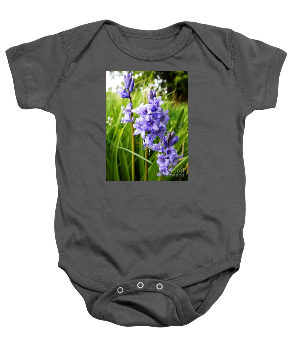 Floral Baby Onesie featuring the photograph Blue Bell by Loreta Mickiene