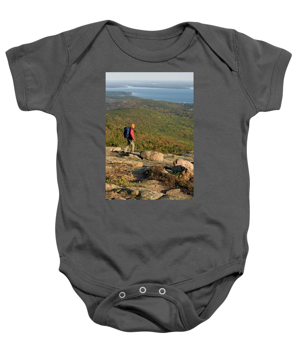20-30 Years Baby Onesie featuring the photograph Cadillac Mountain, Acadia National Park by Lisa Seaman