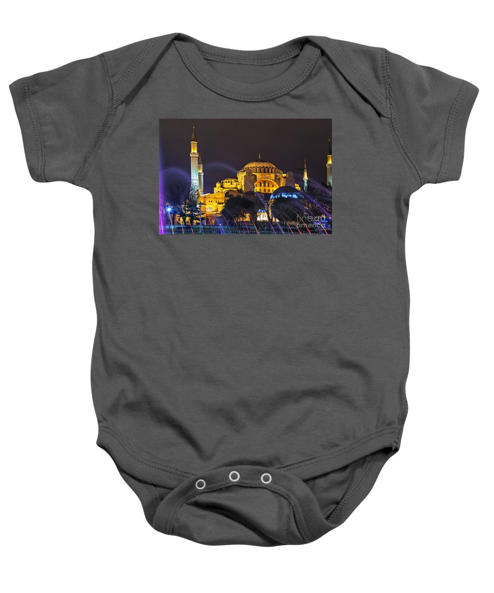 Turkey Baby Onesie featuring the photograph Hagia Sophia Istanbul by Sophie McAulay