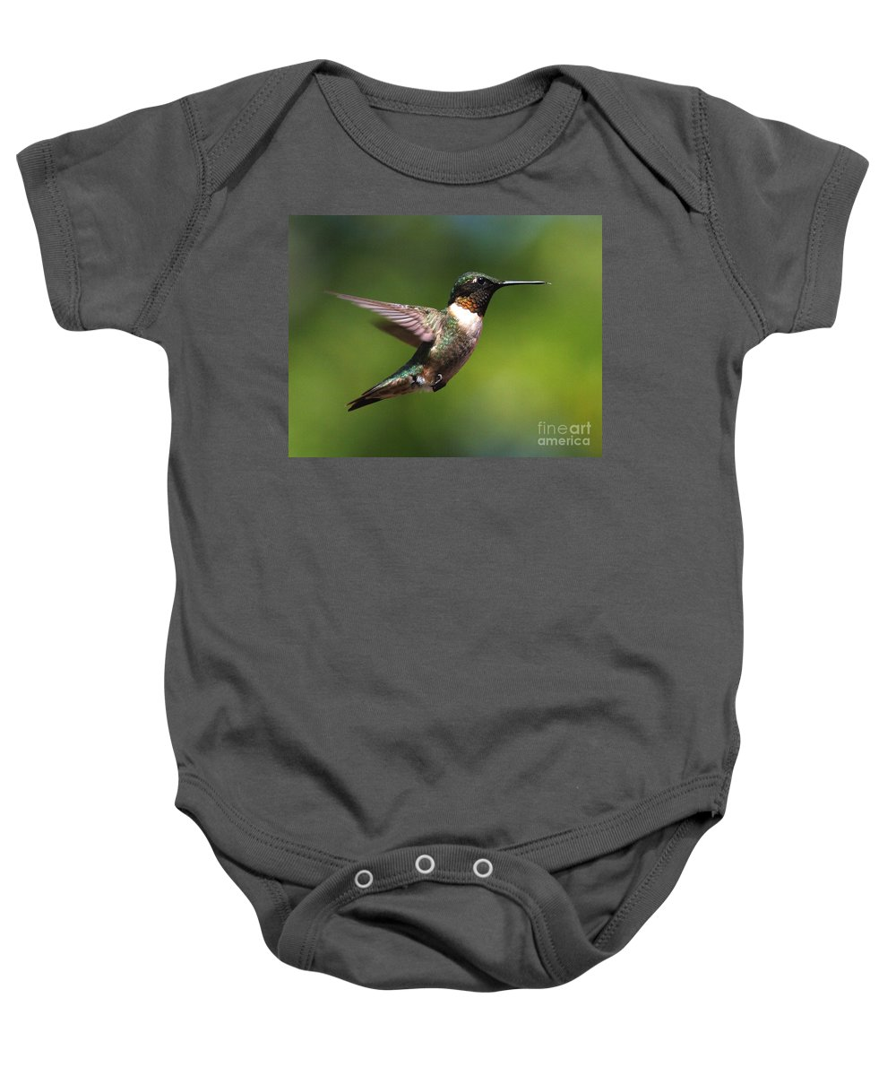 Hummingbird Baby Onesie featuring the photograph Hummer In Flight by Douglas Stucky