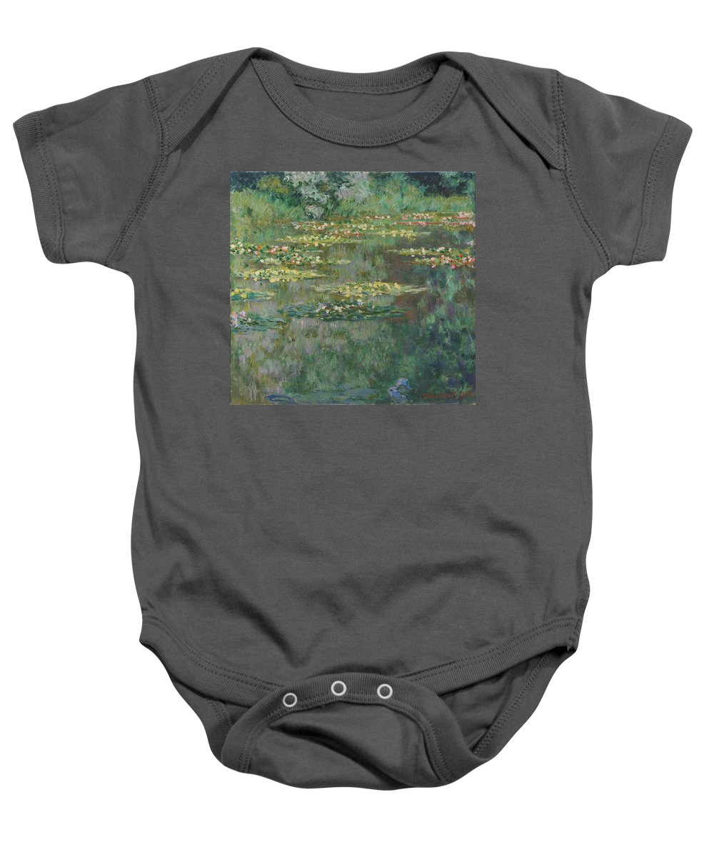 Painting Baby Onesie featuring the painting Le Bassin Des Nympheas by Mountain Dreams