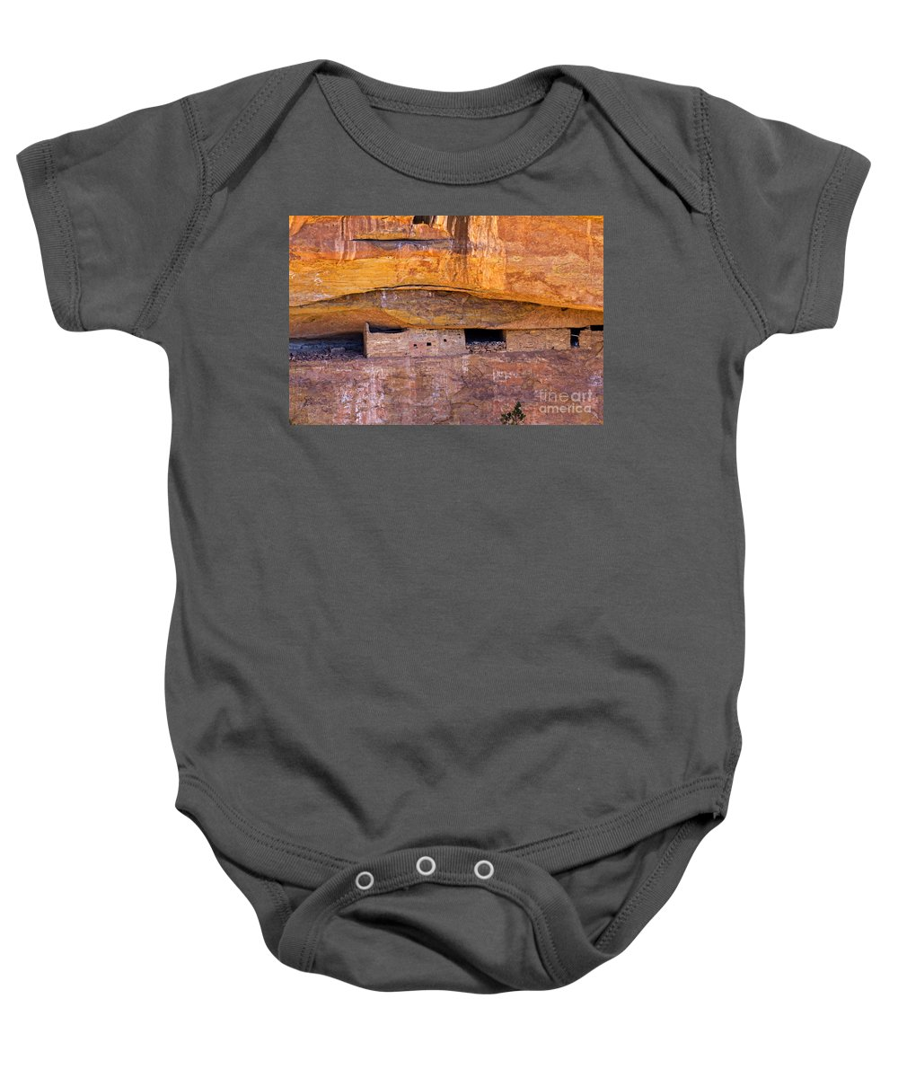 Afternoon Baby Onesie featuring the photograph Sun Point View Mesa Verde National Park by Fred Stearns