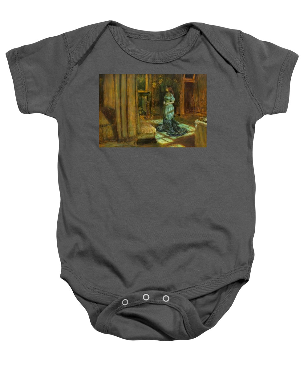 John Baby Onesie featuring the painting The Eve Of St Agnes by Philip Ralley