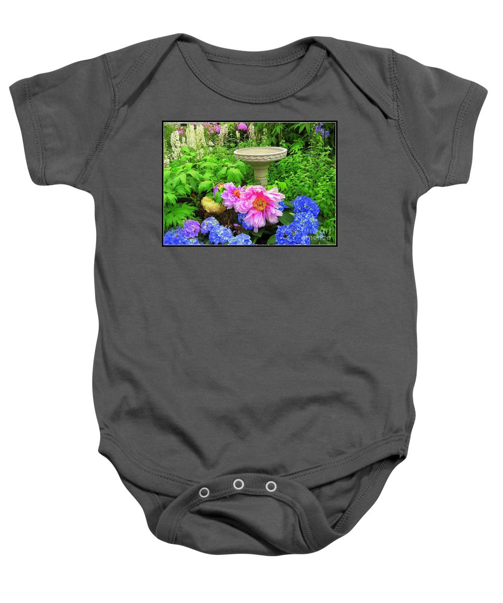 Outdoors Baby Onesie featuring the photograph The Magic Garden by Dora Sofia Caputo Photographic Design and Fine Art