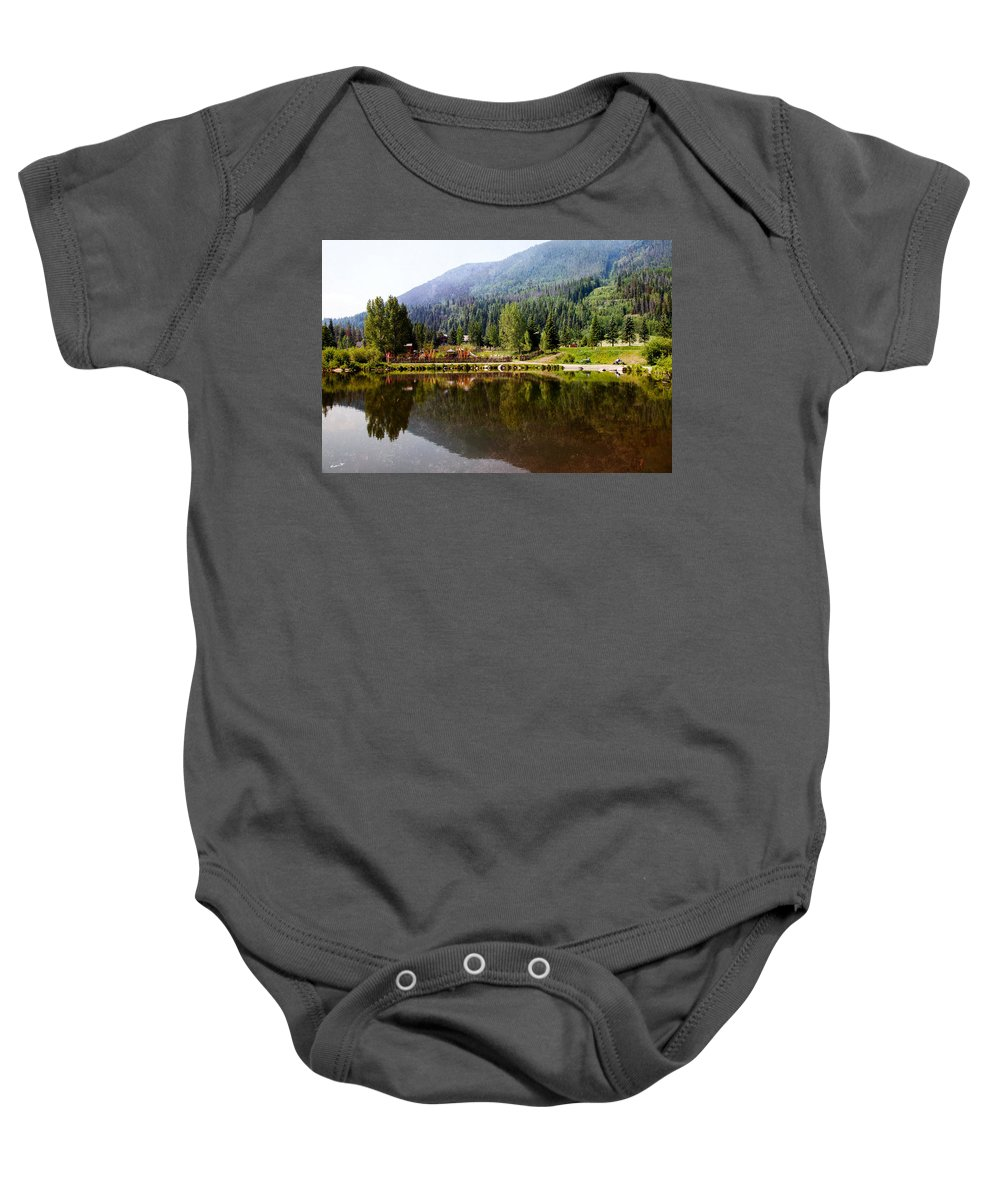 Vail Baby Onesie featuring the photograph Vail Reflections by Madeline Ellis