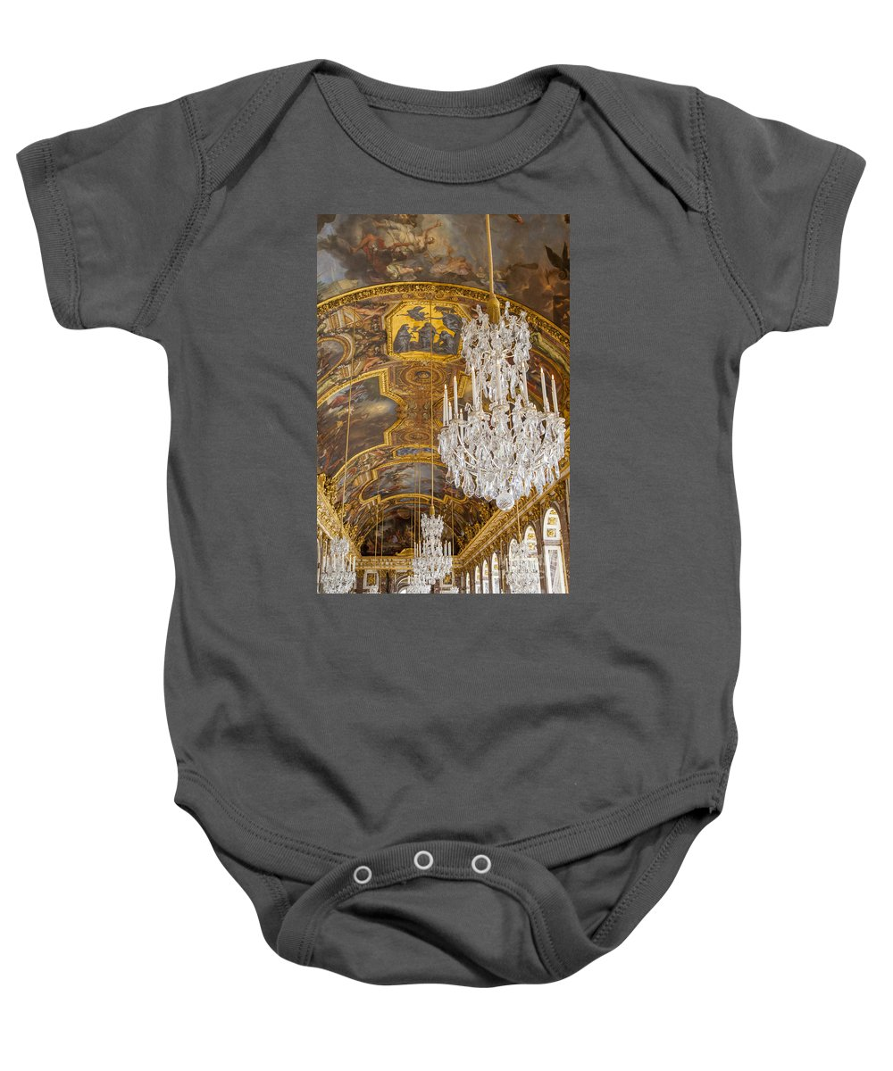 Castle Baby Onesie featuring the photograph Versailles Ceiling by Brian Jannsen