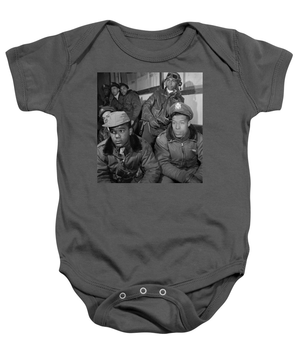 1945 Baby Onesie featuring the photograph Wwii: Tuskegee Airmen, 1945 by Granger