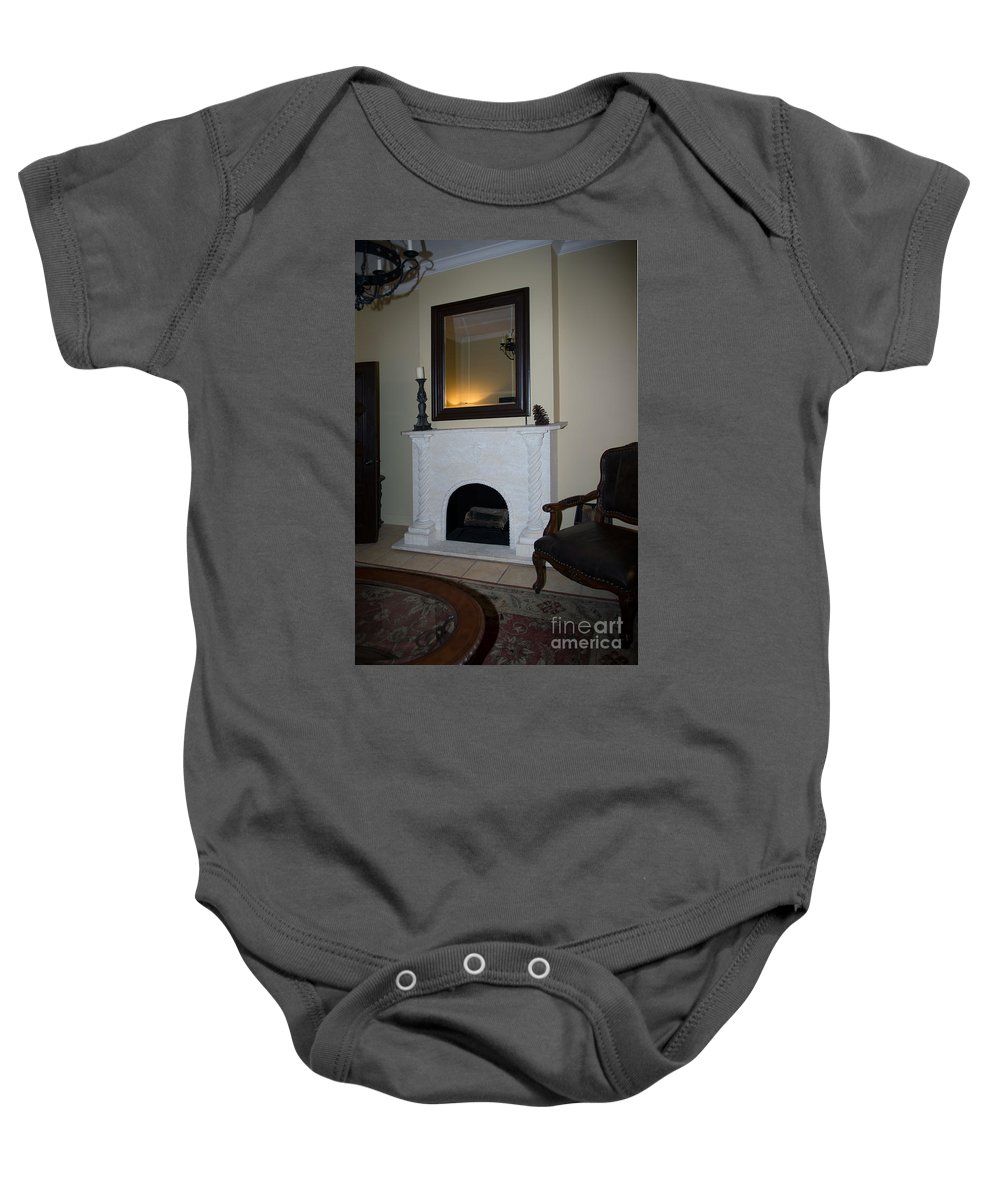Ancient Spanish Monastery Baby Onesie featuring the digital art Ancient Spanish Monastery by Carol Ailles